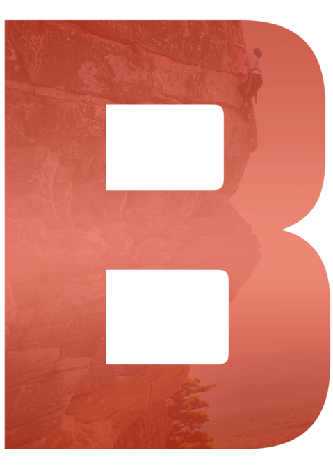 Large red letter B