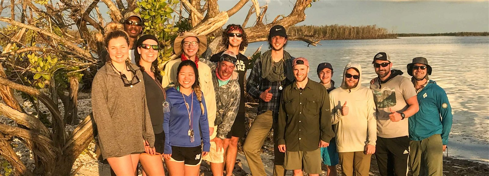 Group of teens in the Florida Everglades