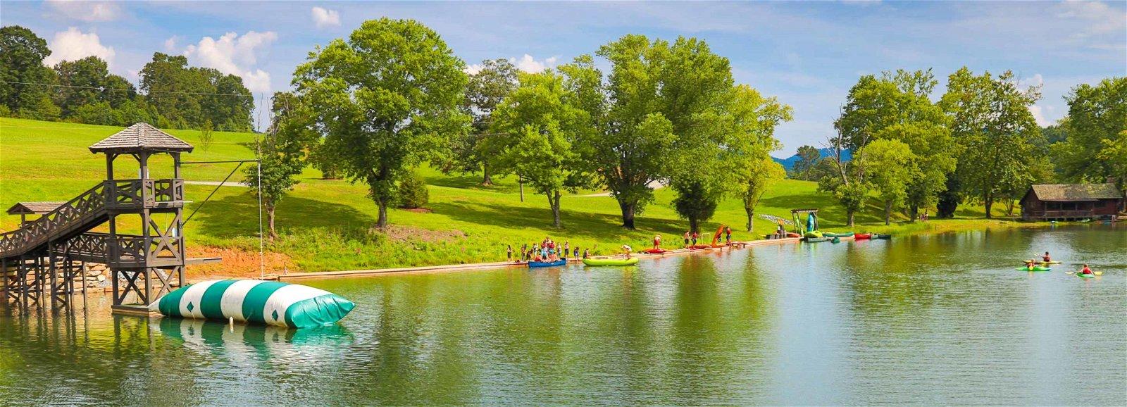 Camp Timberlake waterfront and Wibit