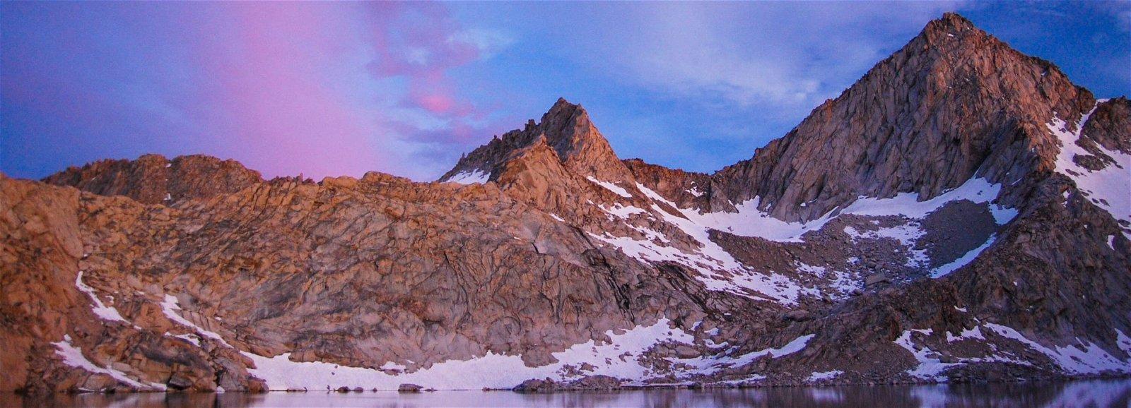 Sierra Nevada mountains at sunset